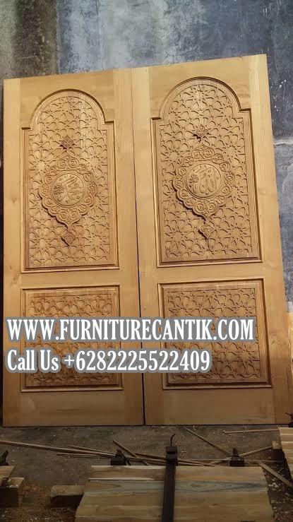Model Pintu Masjid Jati Ukiran Asli Jepara | Model Pintu ...