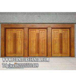 Model Daun Pintu Rumah Mewah Jati