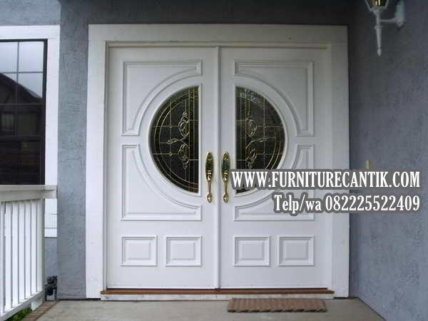 Model Daun Pintu Rumah Mewah Minimalis Jati TPK