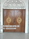 Model Pintu Masjid Kayu Jati Modern