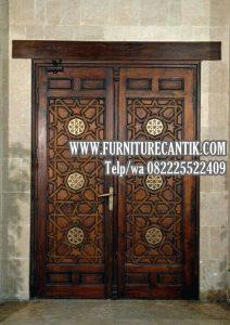 Model Pintu Masjid Kayu Jati Ukiran