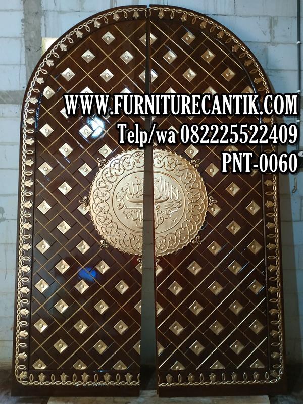 Model Pintu Masjid Kayu Jati Ukiran Mewah