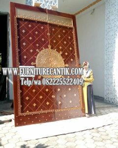 Model Pintu Masjid Kayu Jati Variasi Ukiran